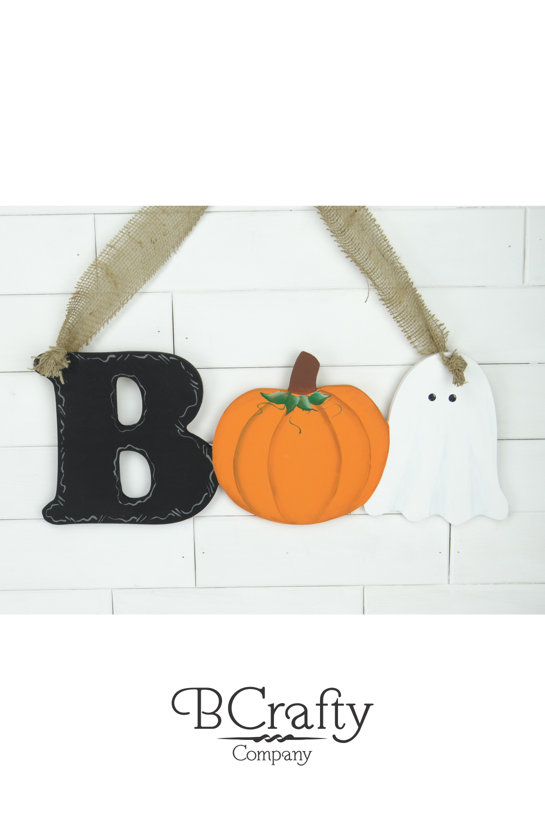 Wooden Boo Cutout Sign