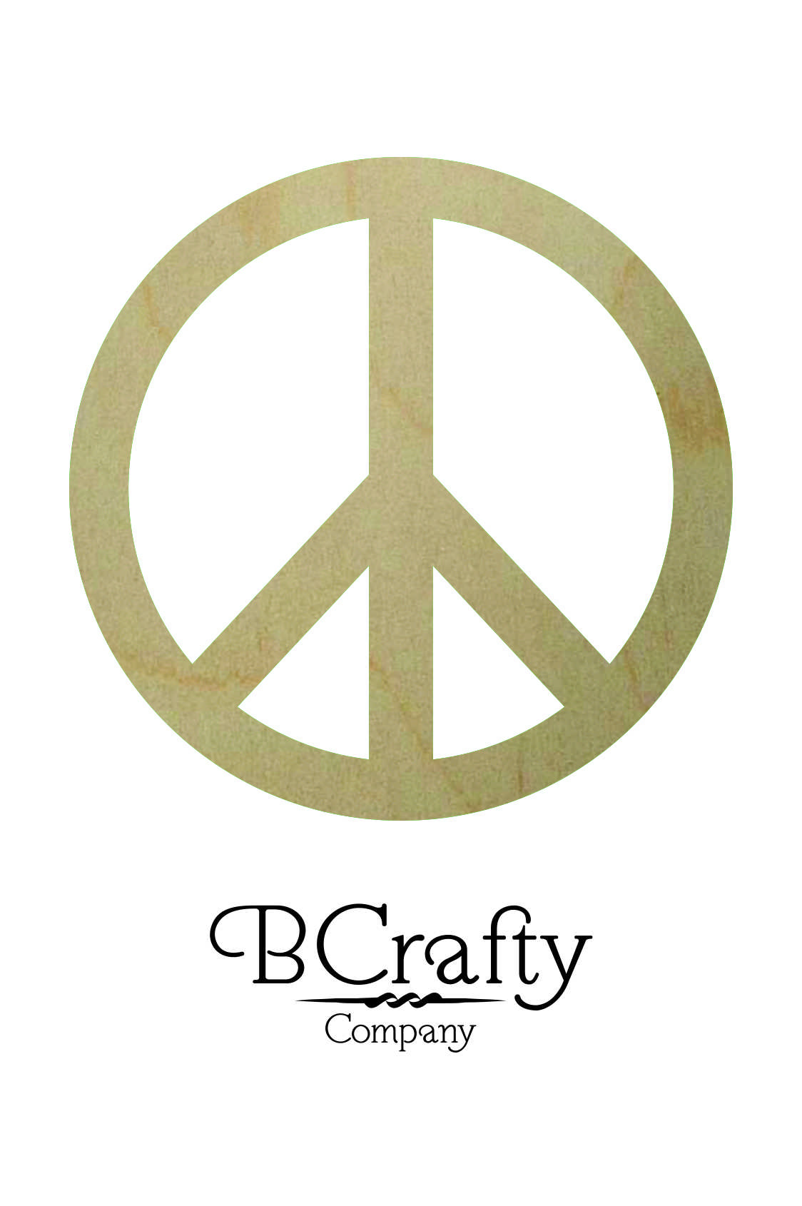 Wooden Peace Sign Cutout