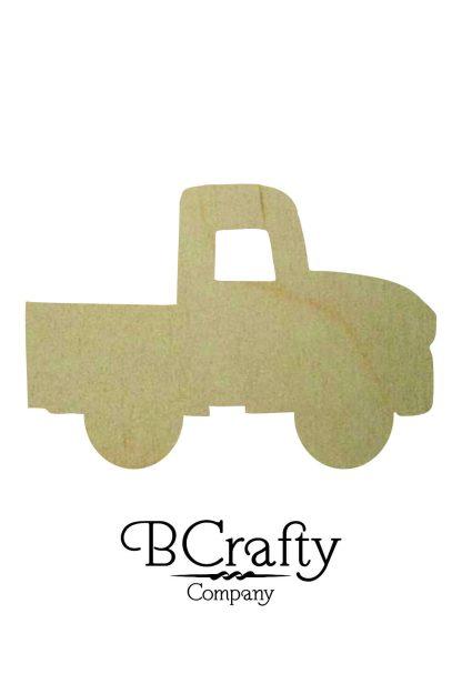 Wooden Truck Cutout