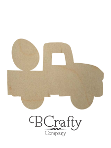 Wooden Pickup w Egg Cutout
