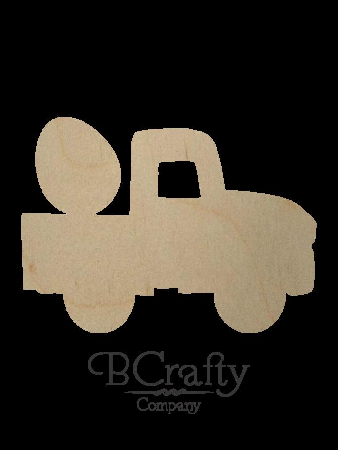Wooden Pickup w Egg Cutout