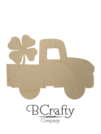 Wooden Pickup w Shamrock Cutout