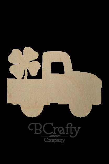 Wooden Pickup w Shamrock Cutout