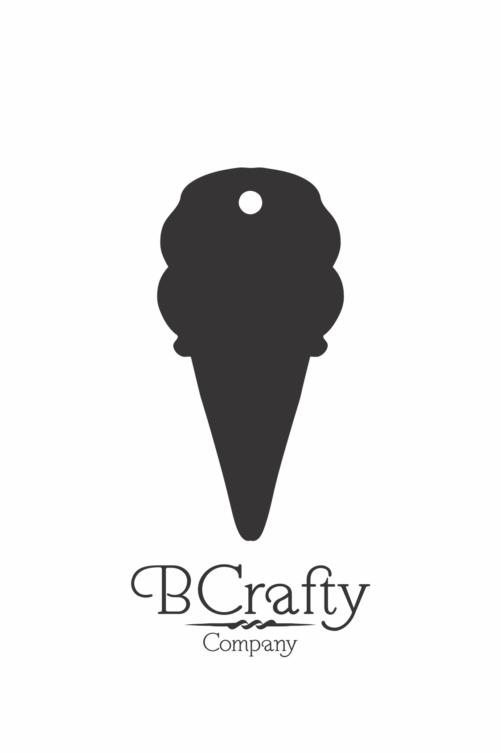 C1030024 Acrylic Ice Cream Cone Blank