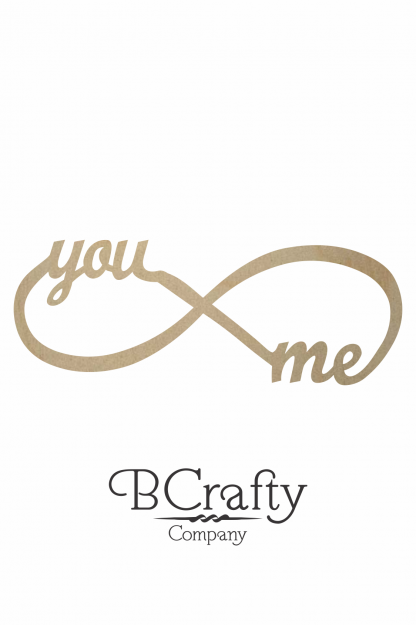 Wooden You and Me Word Cutout