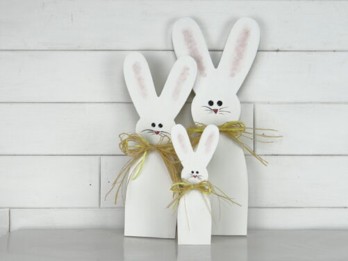 Wooden bunny Easter decor