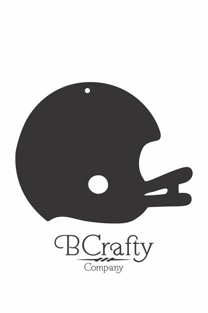 C1030082 Acrylic Football Helmet Blank