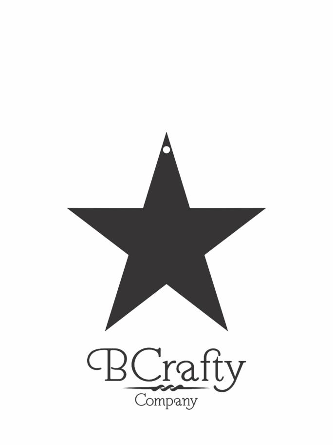 C1030127 Acrylic Star Blank