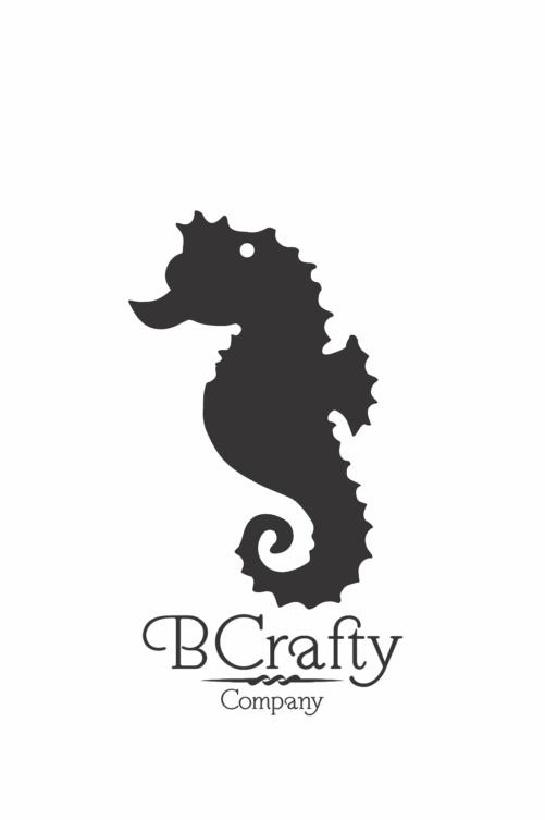 C1030227 Acrylic Seahorse Blank