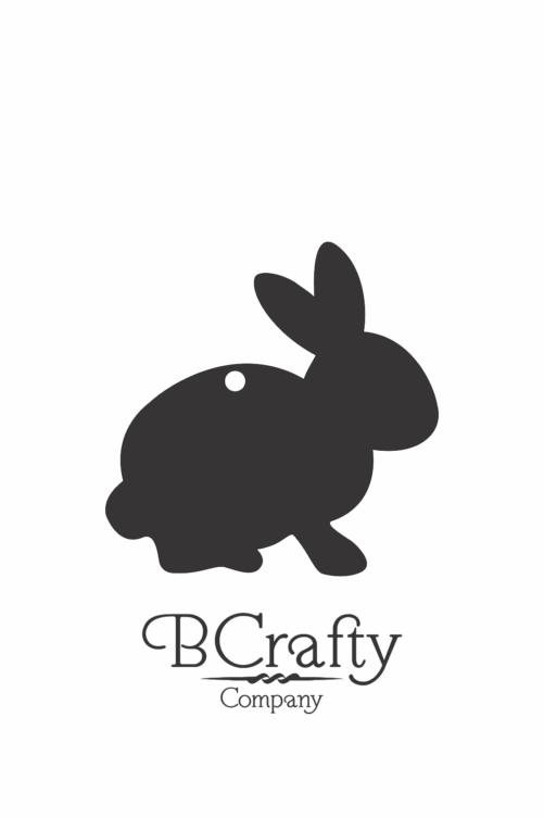 C1030260 Acrylic Rabbit Cutout