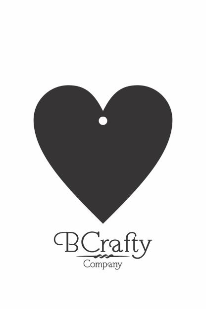 C1030133 Acrylic Heart Blank