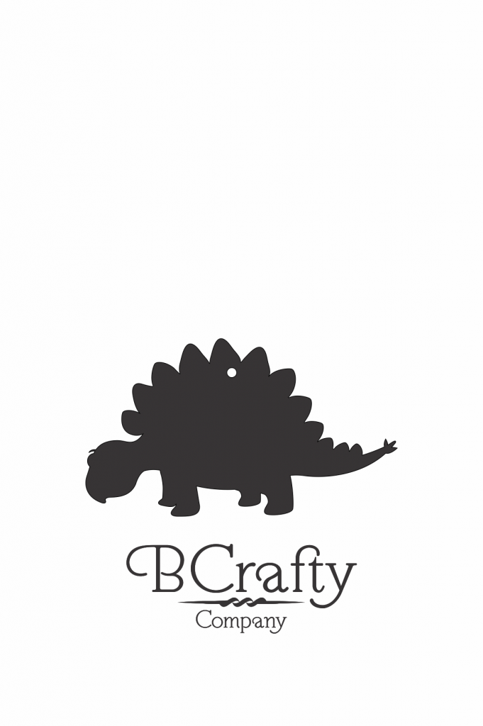 C1030236 Acrylic Stegosaurus Blank