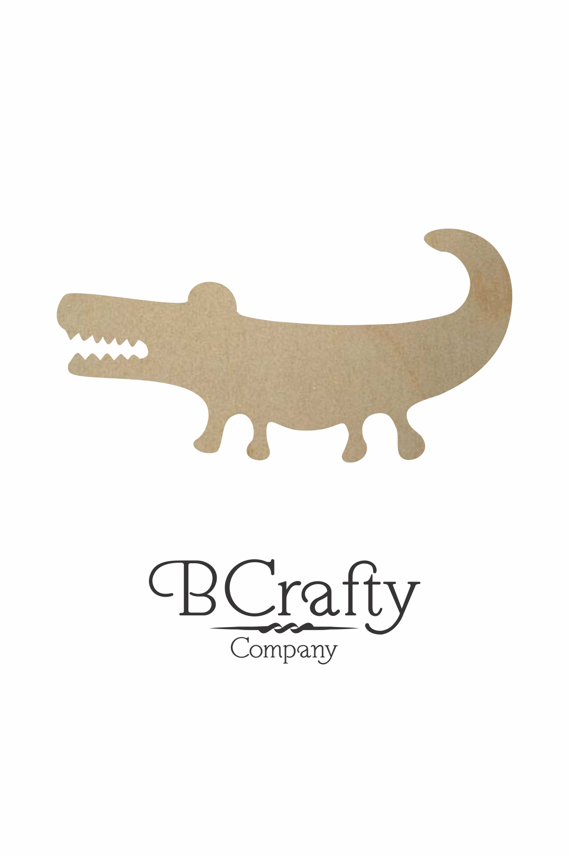 Wooden Alligator Cutout