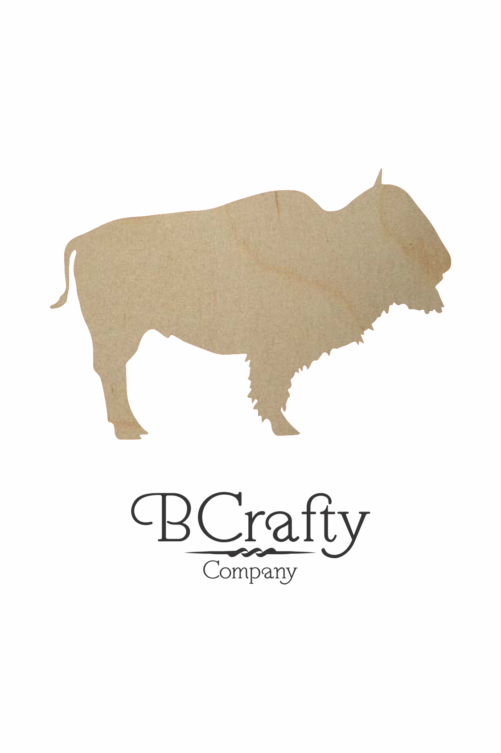 Wooden Buffalo Cutout