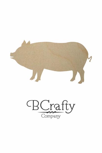 Wooden Pig Cutout