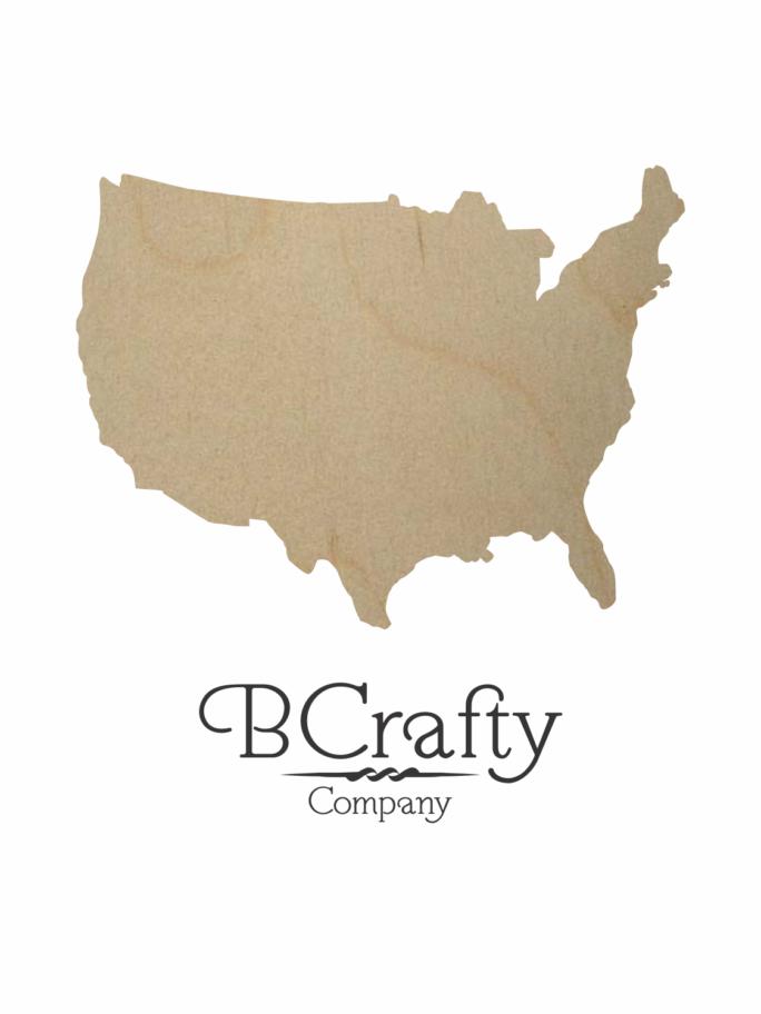 Wooden USA Cutout